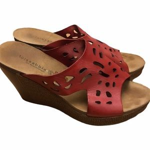 Lola Sabina by Eric Michael Red Leather Sandal